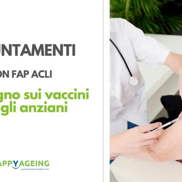 """""""Anziani, perchè vaccinarsi?"""", domani il Convegno FAP ACLI"""