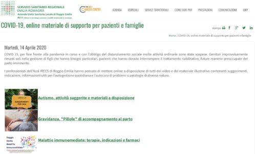 Autocura per i dolori muscolari, online i video dell'AUSL di Reggio Emilia