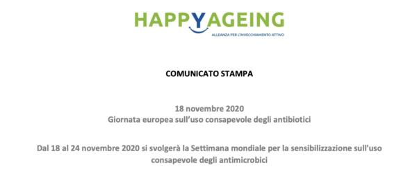 18 novembre 2020 Giornata europea sull'uso consapevole degli antibiotici
