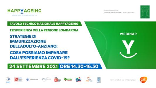 Webinar Tavolo tecnico nazionale Happyageing – L'esperienza della Regione Lombardia
